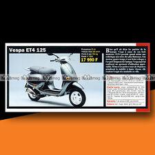 ★ PIAGGIO VESPA 125 ET4 (Scooter) ★ 2000 Article Fiche Présentation Moto #c1316