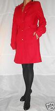 Women Red Smart Coat Knee Length Wool 77% Topshop size 14