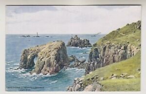 Cornwall postcard - Enys Dodman & Longships Lighthouse, Lands End - ARQ (A1939)