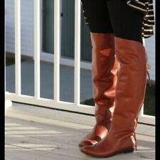 Coach Cheyenne Riding Boots size 8 over the knee Cognac Ret $450