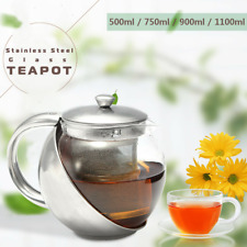 Heat Resistant Glass Teapot Coffee Kettle Chinese Kungfu Tea With Filter Infuser