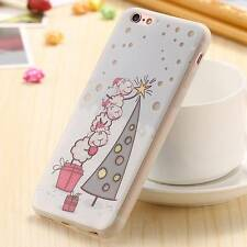 Lovely  Luminous Christmas Pattern Phone Cover Back Case For iPhone 7 6 6s Plus