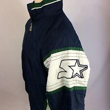 ViNtAgE MeNs Big Logo Starter Blank CoAt JaCkEt Seahawks Michigan Colors 90s