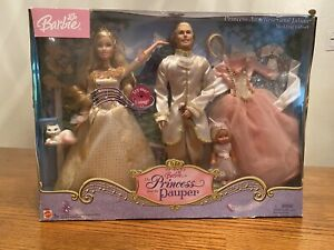 Princess And The Pauper Barbie Wedding Giftset. Never Opened. Box Slightly Worn.