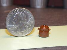 Dollhouse Miniature Kitchen Metal Bean Pot 1:24 half scale ZBPX Dollys Gallery