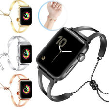 Jewelry Bangle Cuff iWatch Band Stainless Steel for Apple Watch Series 4 3 2 1