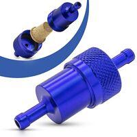 Universal Kraftstofffilter 7mm Aluminium Benzinfilter KFZ Auto Motorrad Blau