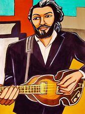 PAUL McCARTNEY PRINT poster beatles hofner violin bass abbey road let it be cd