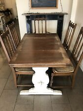 Large Extending Draw Leaf Table And Chairs