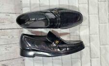 Florsheim Riva Black Shoes Leather Slip On 17088-01 MENS SIZE 11 D