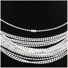 """LOTS of 20PCS silver plated spherical metal necklace Finding 19""""S"""