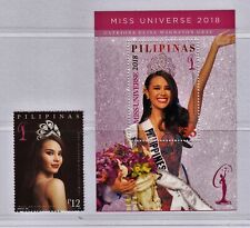 Philippine Stamps 2019 Miss Universe Catriona Gray Complete set Mint Never Hinge