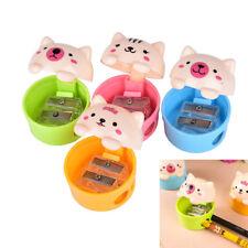 Cute Cat Plastic Pencil Sharpener For Kids Student School Office Home 9S8