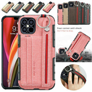 iPhone 12 Pro Max XR 8 7 6s Plus Card Holder Wallet Leather Slim Back Case Cover