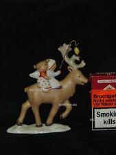 +# A006380_02 Goebel Archiv Muster Nordic Weihnacht Engel und Kind auf Rentier