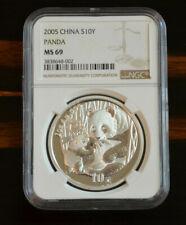 2005 china NGC ms 69 silver panda