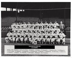 1946 BOSTON RED SOX 8X10 TEAM PHOTO BASEBALL PICTURE AL CHAMPS MLB