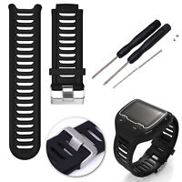 Sports Silicone Watch Band Replace Strap For Garmin Forerunner 910XT GPS Watch
