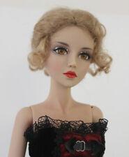 "1/3 1/4 bjd 7-8"" doll beige real mohair vintage braid wig dollfie Iplehouse"