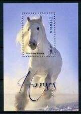 Ghana 2015 MNH Horses 1v S/S II Shire Horse Farm Animals