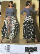 Uncut 2007 Vogue Patterns V2971 18 20 22 Koos Van Den Akker Top & Skirt