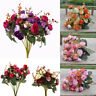 New 2 Bouquets 42 Head Artifical Rose Silk Flower Bouquet Home Wedding Decor
