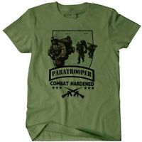 US Army Combat Veteran T-Shirt Airborne Paratrooper Ranger Special Forces War