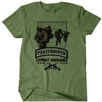 US Army Combat Veteran T-Shirt Airborne Paratrooper Ranger Special Forces War