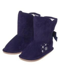 GYMBOREE FAIR ISLE FLURRY NAVY w/ SNOWFLAKES SHERPA BOOTIES 8 NWT-OT