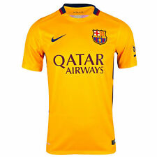 Nike Mens 2015/16 FC Barcelona Away Soccer Jersey Gold/Red 658785 740 Size Large