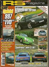 RS MAGAZINE 84 PORSCHE CAYMAN S BOXSTER RS 60 SPYDER 996 TURBO S CAB 997 C4S X51