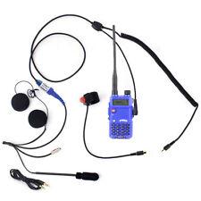 Motorcycle Helmet Two Way Communication Kit w/ Dual Band Radio PTT Speakers Mic
