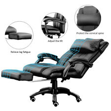 AAA+ Office Executive Computer Chair Footrest Recliner Racing Lift Faux Leather