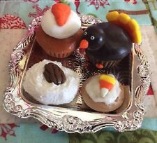A.G.CREATION Doll Play Food: 5 Piece Fall/Thanksgiving Pastries Set
