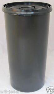 Gelber Sack Ständer anthrazit mit Deckel anthrazit Müllständer Mülleimer  60 L