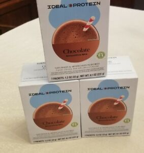 IDEAL PROTEIN CHOCOLATE DRINK MIX  Brand new 3 boxes