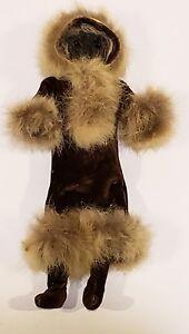 Alaskan Native Yupik Inuit Eskimo Fur Stone Face Doll by Dorothy Weast 1930 RARE