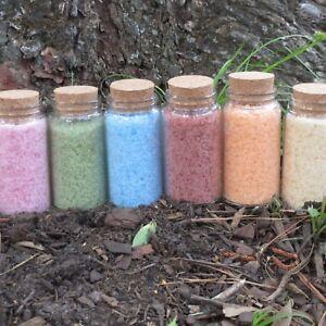 VEGAN HOMEMADE BATH SALTS - Choose your color, scent! - Pure Dead Sea Salt FRESH