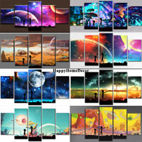 Galaxy Painting 5p Canvas Print Planets Poster Wall Art Space Picture Home Decor