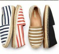 Vionic Coast Valeri Womens SlipOn Espadrille Flats Stretch Loafer NEW Retail $99