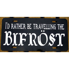 Bifrost Car Tag Thor and Loki Asgardian License Plate