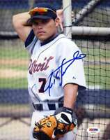 Ivan Rodriguez Psa Dna Coa Hand Signed 8x10 Photo  Authentic Autograph Tigers