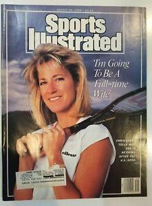 August 28, 1989 Sports Illustrated Chris Evert Nolan Ryan Ks Tonight Show Label