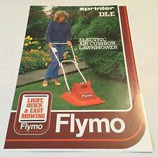 FLYMO Sprinter DLE Mower Original Glossy 1980s Vintage Sales brochure