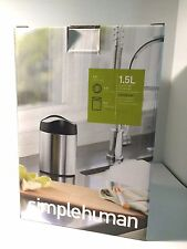 Simplehuman Mini Countertop Tabletop Trash Can-Stainless Steel-1.5 L/0.4 Gallon