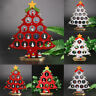"Wholesale 11.8"" Wooden Christmas Tree Ornaments Desk Table Decoration Xmas Gift"