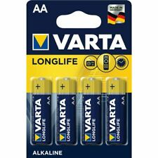 Varta Longlife AA Alkaline Batteries LR6- Pack of 4