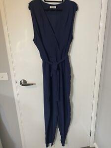 Pilgrim Size 16 Navy Blue Jumpsuit