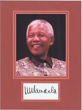 NELSON MANDELA  8 x 10 REPRINT PHOTO & REPRINT AUTOGRAPH ON GLOSSY PHOTO PAPER