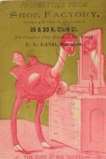 Co-Operative Union Shoe Factory Anthropomorphic Ostrich In Suit Monocle P66